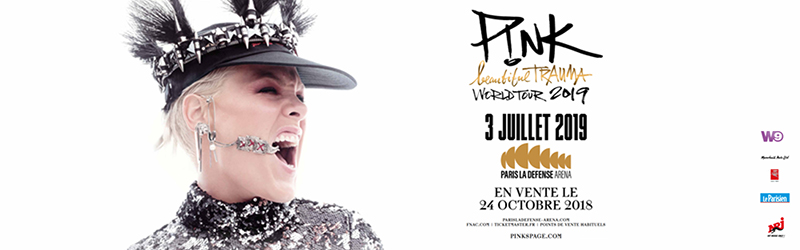CONCERT : Pink en concert à Paris La Défense Arena le 03 juillet 2019