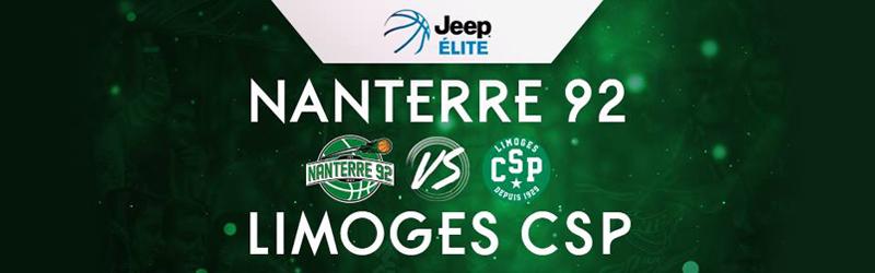BASKET : Nanterre 92 / Limoges – samedi 2 mars 2019 à 20h